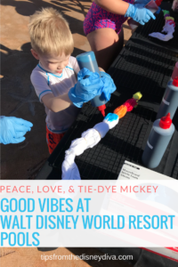 Peace, Love, & Tie-Dye Mickey Good Vibes at Walt Disney World Resort Pools
