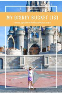 My Disney Bucket List