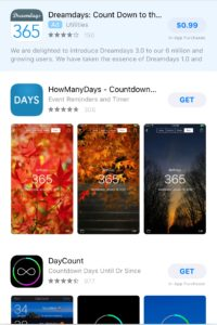 Trip Planning Countdown iPhone apps