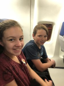 Kids on a plane to WDW