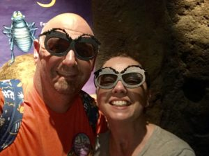 Wearing bug eyes at Animal Kingdom's It's Tough To Be a Bug