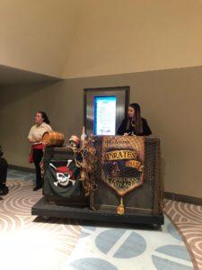 Pirates & Pals Check-In Desk