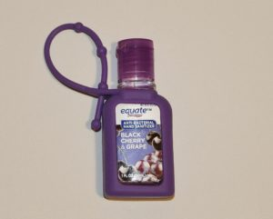Hand sanitizer that can be hooked to bags
