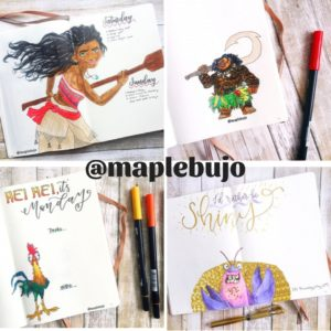 Moana, Hei Hei, Maui, Instagram, IG, Bullet Journal, water colour, planning, organizing