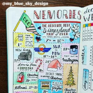 Disneyland, memories, bullet journal, design elements