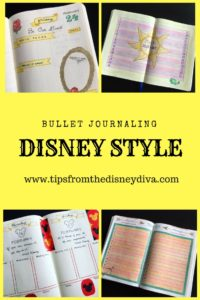 Bullet Journaling, Disney Side, Disney Theme, Planning, Orgaizing