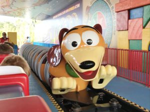 Slinky Dog Dash car at Hollywood Studios Toy Story Land