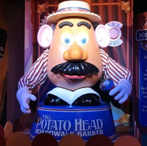 Mr. Potato Head in Toy Story Midway Mania at Hollywood Studios