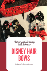 Review and Giveaway - Little Heron Co Disney Hair Bows