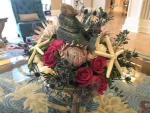 Beach Club lobby floral arrangement