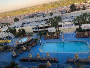 Paradise Pier Hotel pool area