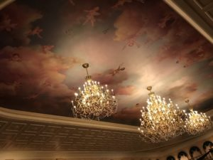 Ceiling of Be Our Guest in Magic Kingdom