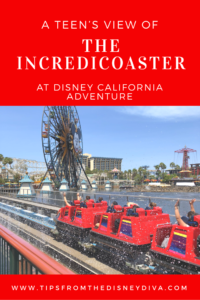 A teen's view of the Incredicoaster at Disneyland California Adventure