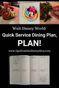 Quick Service Dining Plan, Dining Plan, Disney Dining, Disney DIning Plan, Bullet Journal, Free Dining Plan, Disney Dining Package, Meal Credits, Snack Credits, Disney Meals, Disney Food, Disney Restaurants, Disney Vacation Planning, Disney Sweets, Disney Eats
