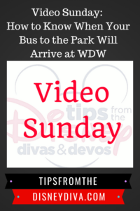 Video Sunday: How to Know When Your Bus to the Park Will Arrive at WDW