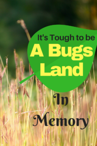 It's Tough To Be A Bugs Land- In Memory