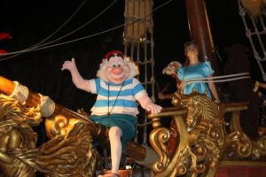 Mr. Smee and Wendy at the Boo to You Parade