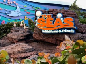 Diving into the Living Seas at Epcot