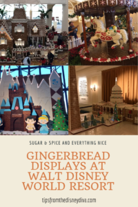 Sugar & Spice and Everything Nice Gingerbread Displays at Walt Disney World Resort