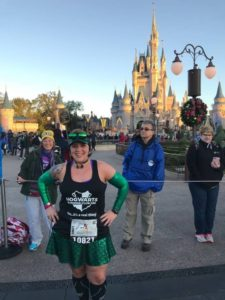 Runner in front of Cinderella Castle