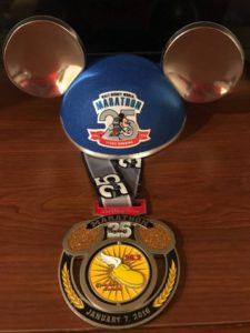 25th runDisney Marathon Bling