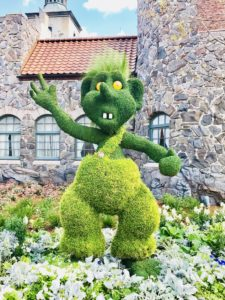 Topiary at Norway Pavilion in Epcot
