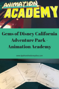 Gems of Disney California Adventure Park - Animation Academy