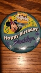 Disney World, Walt Disney World, Birthday Celebration, Birthday Cupcake, Disney Birthdays, Celebrating Birthdays at Disney World, Birthday Button, Celebratory Button, Disney World Button, Teens, Teenager, Bibbbidi Bobbidi Boutique, Princess Birthday, Ye Olde Christmas Shoppe,