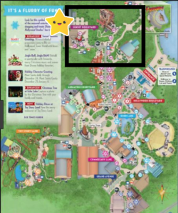 Map of hollywood studios