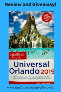 The Unofficial Guide Universal Orlando 2019 review and giveaway