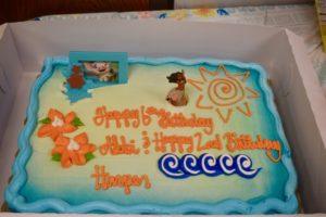 Moana birthday cake