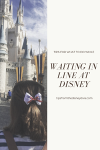 tips for what to do while waiting in line at disney