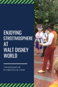 Enjoying Streetmosphere at Walt Disney World