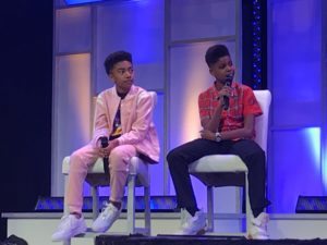 Miles Brown of Blackish and J.D. McCrary, the new voice of Simba in Disney's The Lion King, speak at Disney Dreamers Academy
