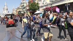 Walt Disney World's pre-parade at Magic Kingdom featuring the 2019 Disney Dreamers Academy