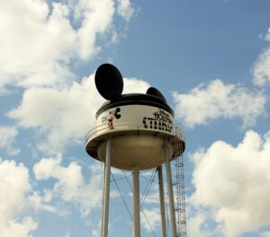 Earful Tower seen from Hollywood Studios Backlot Tour