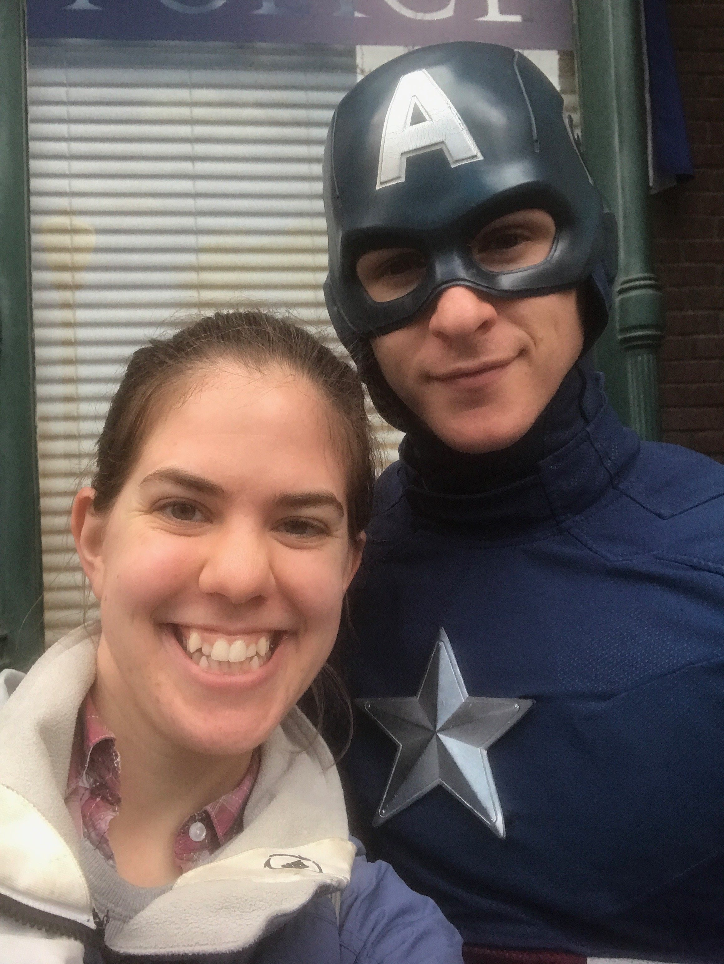 Marvel Diva's sister with Captain America