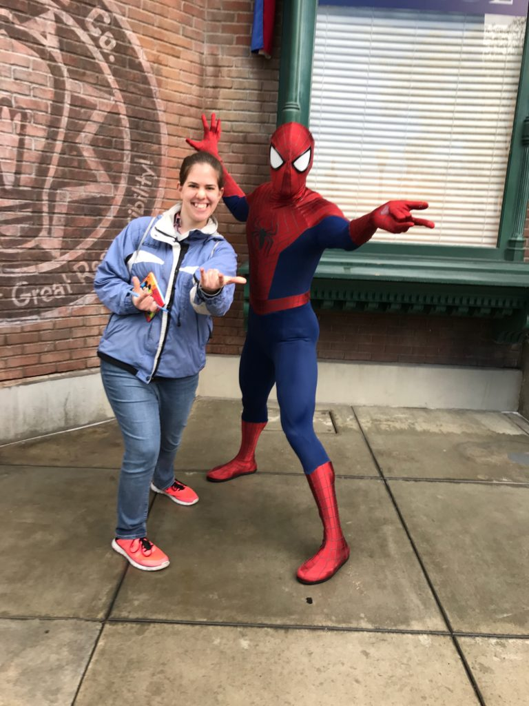 Marvel Diva's sister with Spider-Man