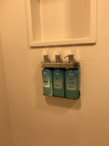 Disney Resorts now feature these toiletries mounted to the shower walls