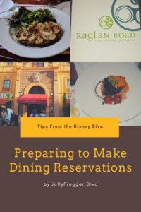 Prearing to Make Dining Reservations