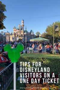 Tips for Disneyland Visitors on a One Day Ticket