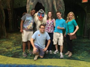 Meeting Rafiki at Animal Kingdom