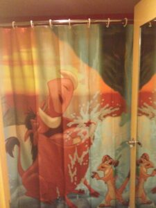 shower curtain art of animation lion king suite