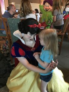 Story Book Dining at Artist Point with Snow White