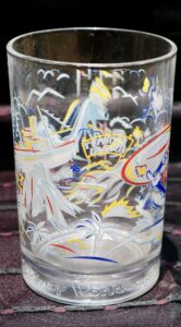 McDonald's Walt Disney World glassware features images from Blizzard Beach and Typhoon Lagoon