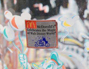 Walt Disney World glasses from McDonald's still has original sticker on it