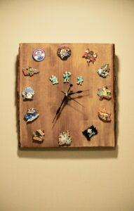 Hand Crafted Disney Trading Pin Clock
