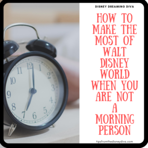How to Make the Most of Walt Disney World When You are Not a Morning Person