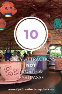 Ten Disney Attractions NOT Worth a FastPass+