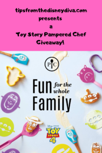 Enter for a chance to win a Toy Story Pampered Chef set!